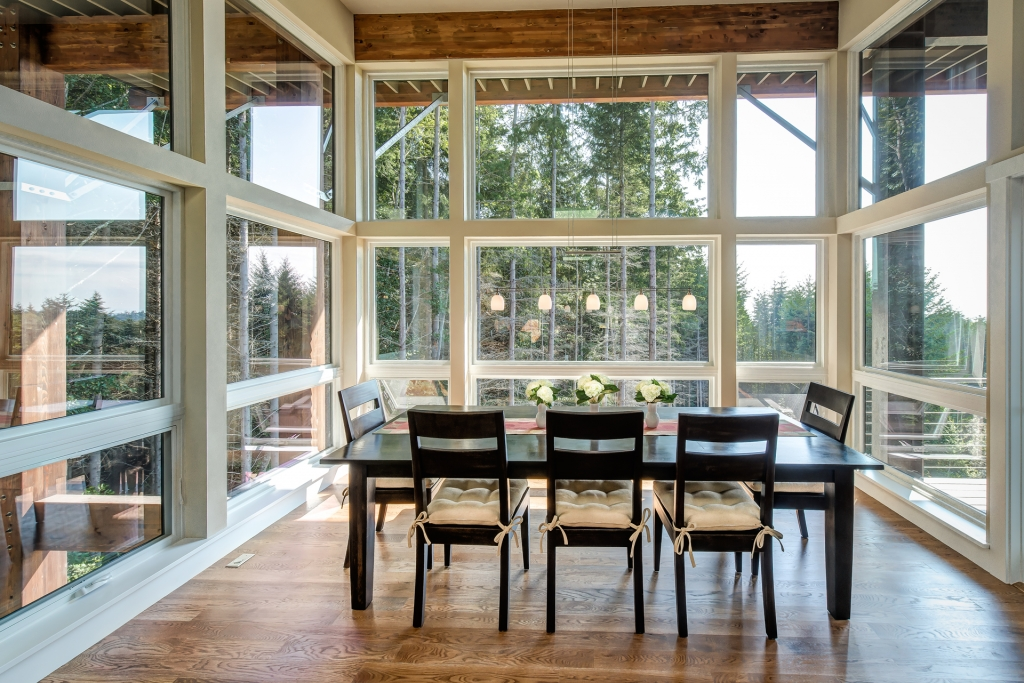 Dining Room of Suquamish Residence Built by Rhodes Architecture